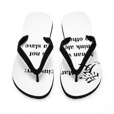 A man must think alone Flip Flops