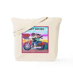 Bulldog and Frenchie Biker Tote Bag