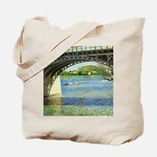 Caillebotte Bridge at Argenteuil and the  Tote Bag