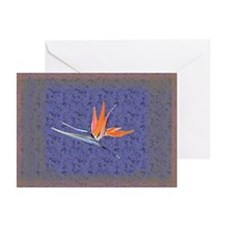 Blue Bird of Paradise Greeting Cards