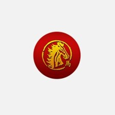 Chinese New Year of The Horse Mini Button (100 pac
