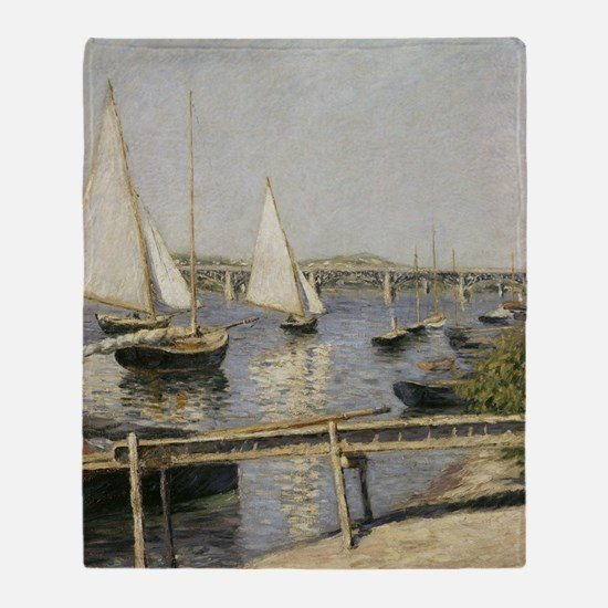 Caillebotte Sailing Boats at Argente Throw Blanket