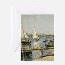 Caillebotte Sailing Boats at Argente Greeting Card