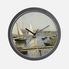 Caillebotte Sailing Boats at Argenteuil Wall Clock