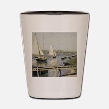 Caillebotte Sailing Boats at Argenteuil Shot Glass