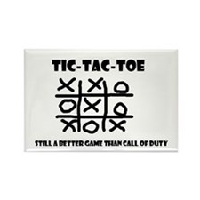 TIC-TAC-TOE Rectangle Magnet
