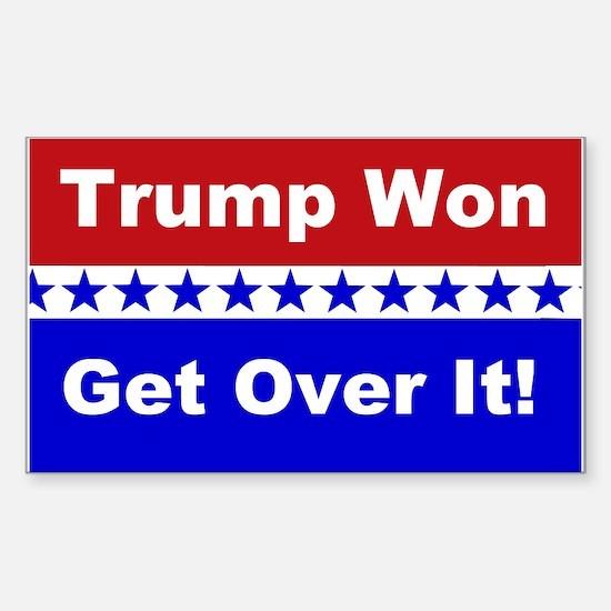 Trump Won Get Over It! Sticker (Rectangle)