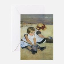 Mary Cassatt Children Playing on the Greeting Card