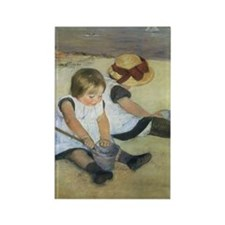 Mary Cassatt Children Playing on  Rectangle Magnet