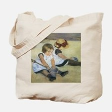 Mary Cassatt Children Playing on the Beac Tote Bag