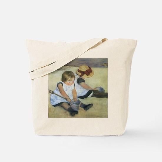 Mary Cassatt Children Playing on the Beac Tote Bag