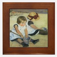 Mary Cassatt Children Playing on the B Framed Tile