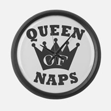 Queen of Naps Large Wall Clock