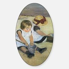 Mary Cassatt Children Playing on th Sticker (Oval)