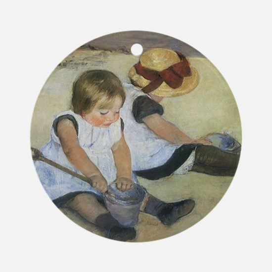 Mary Cassatt Children Playing on th Round Ornament