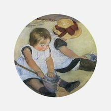 "Mary Cassatt Children Playing on the B 3.5"" Button"