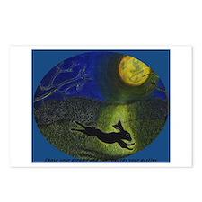 """In Moonlight"" 8 postcards w/message"