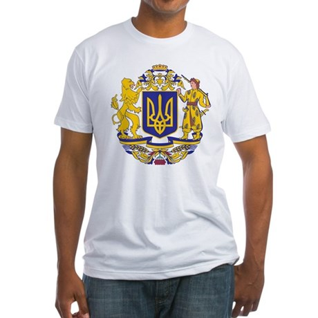 Ukraine Coat of Arms Fitted T-Shirt