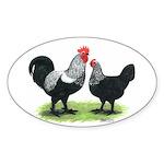 Iowa Blues Oval Sticker