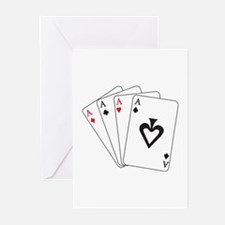 Four Aces Greeting Cards