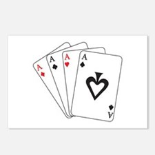Four Aces Postcards (Package of 8)