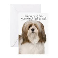 Lhasa Apso Get Well Card