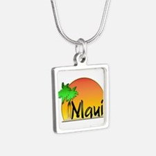 Maui Silver Square Necklace