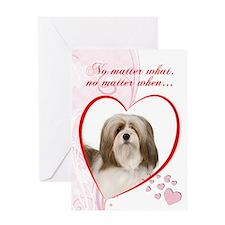 Lhasa Apso Valentine Card