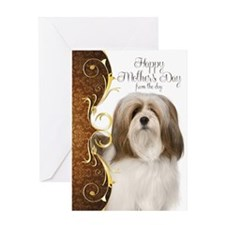 Lhasa Apso Mothers Day Card