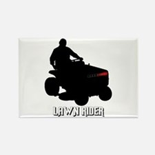 Lawn Rider Rectangle Magnet