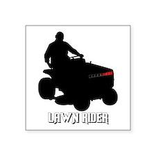 """Lawn Rider Square Sticker 3"""" x 3"""""""