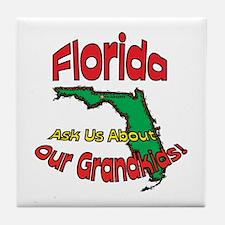 Florida Grandparent Motto Tile Coaster