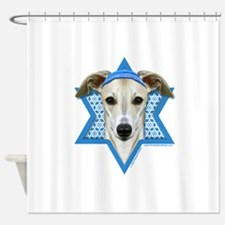 Hanukkah Star of David - Whippet Shower Curtain