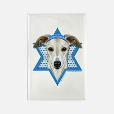 Hanukkah Star of David - Whippet Rectangle Magnet