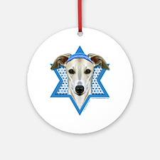 Hanukkah Star of David - Whippet Ornament (Round)