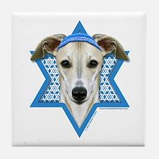 Hanukkah Star of David - Whippet Tile Coaster