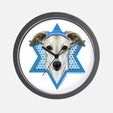 Hanukkah Star of David - Whippet Wall Clock