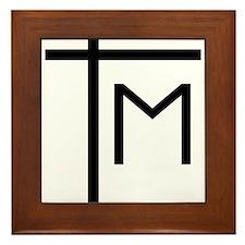 Marian Cross Framed Tile