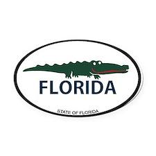 FLorida - Alligator Design. Oval Car Magnet