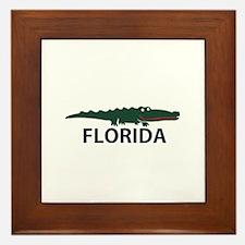 FLorida - Alligator Design. Framed Tile