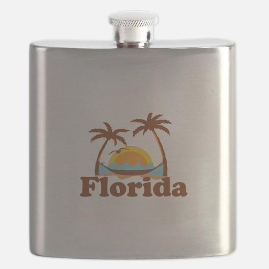 Florida - Palm Trees Design. Flask