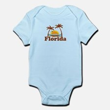 Florida - Palm Trees Design. Infant Bodysuit