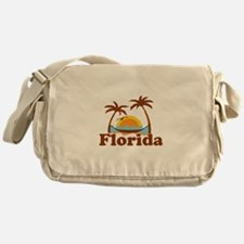 Florida - Palm Trees Design. Messenger Bag