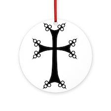 Armenian Cross Ornament (Round)