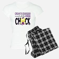 Crohn's Messed With Wrong Chick Pajamas