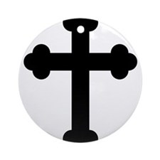 Budded Cross Ornament (Round)