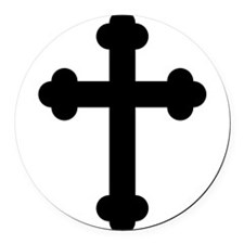 Budded Cross Round Car Magnet