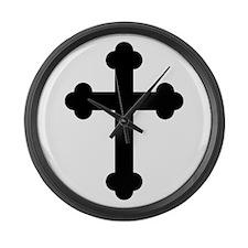 Budded Cross Large Wall Clock