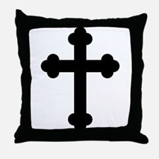 Budded Cross Throw Pillow