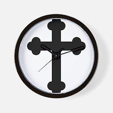 Budded Cross Wall Clock